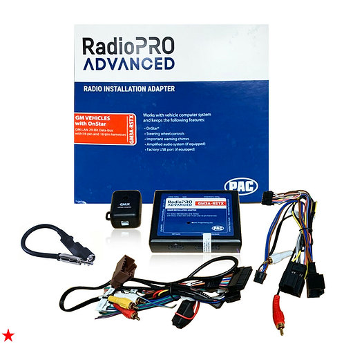 PAC GM3A-RSTX RADIOPRO RADIO INSTALLATION ADAPTER FOR GM VEHICLES WITH ONSTAR
