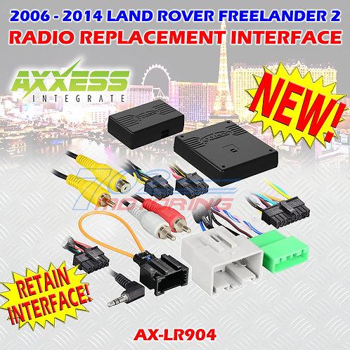 06 - 14 METRA AX-LR904 LANDROVER FREELANDER 2 W/ MOST25 AMP SWC & DISP RETENTION