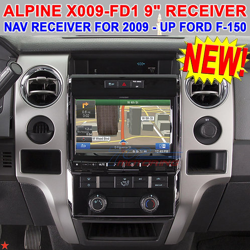 "ALPINE X009-FD1 9"" DVD / CD NAVIGATION RECEIVER FOR SELECT 2009 - UP FORD F-150"