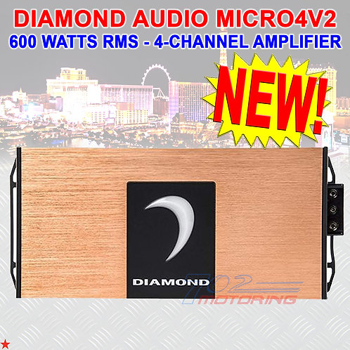 DIAMOND AUDIO® MICRO4V2 4-CHANNEL MOTORCYCLE 600W RMS AMPLIFIER FOR HARL