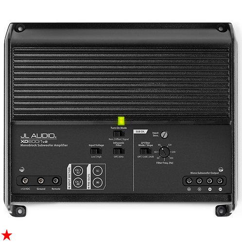 JL AUDIO XD600/1V2 MONOBLOCK SUBWOOFER AMPLIFIER 600 W (600 W RMS x 1 AT 2 OHMS)