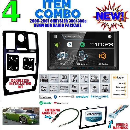 05-07 CHRYSLER 300/300C DDX794 DOUBLE DIN DVD CD USB BLUETOOTH BT CAR RADIO