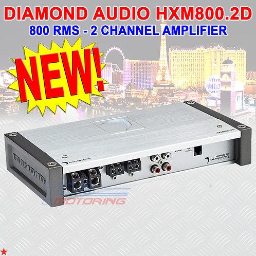 DIAMOND AUDIO® HXM800.2D MOTORSPORT-SERIES 800 RMS 2-CHANNEL CLASS-D AMPLIFIER