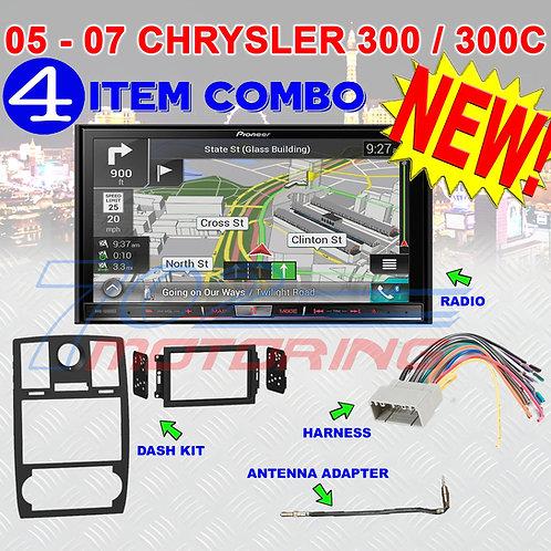 05-07 CHRYSLER 300/300C AVIC-7200NEX DOUBLE DIN NAVIGATION BLUETOOTH BT