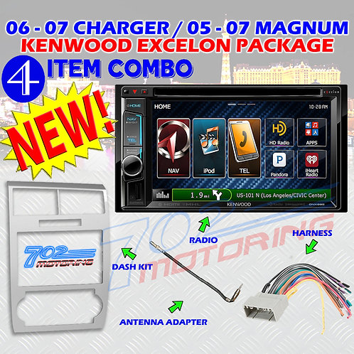 05-07 DODGE MAGNUM / CHARGER DNX692 + 99-6519S + HARNESS + ANTENNA ADAPTER