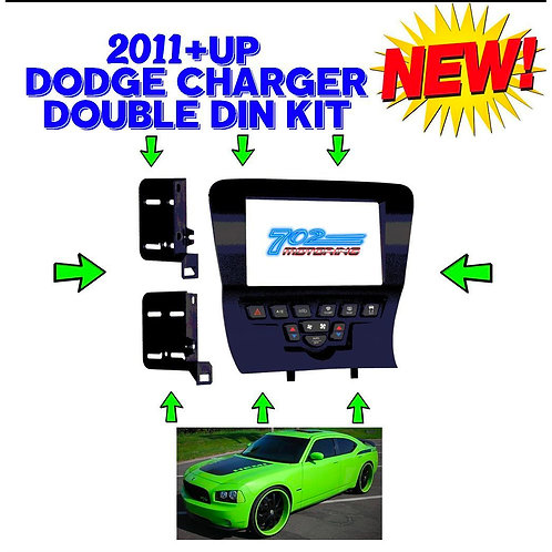 METRA 99-6514B DOUBLE/SINGLE DIN CAR DASH KIT FOR SELECT 2011-2014 DODGE CHARGER