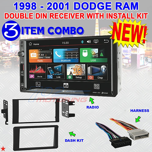 98 99 00 01 DODGE RAM ANDROID AUTO AM/FM BLUETOOTH USB CAR RADIO STEREO SYSTEM