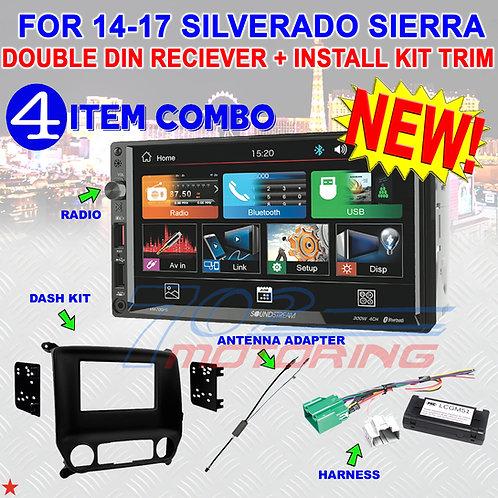 2014-2017 SILVERADO & SIERRA DOUBLE DIN BLUETOOTH USB CAR STEREO RADIO VM-700HB