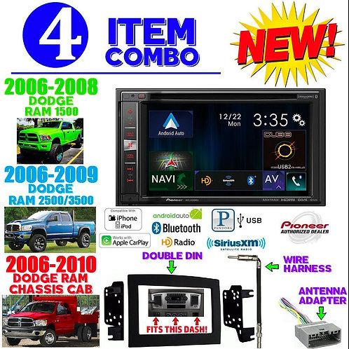 06-10 DODGE RAM AVIC-5100NEX + 95-6528B + HARNESS + ANTENNA ADAPTER