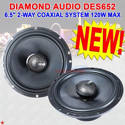 "DIAMOND AUDIO DES652 6.5"" ELITE DES-SERIES 2WAY COAXIAL SPEAKER SYSTEM 120W PAIR"