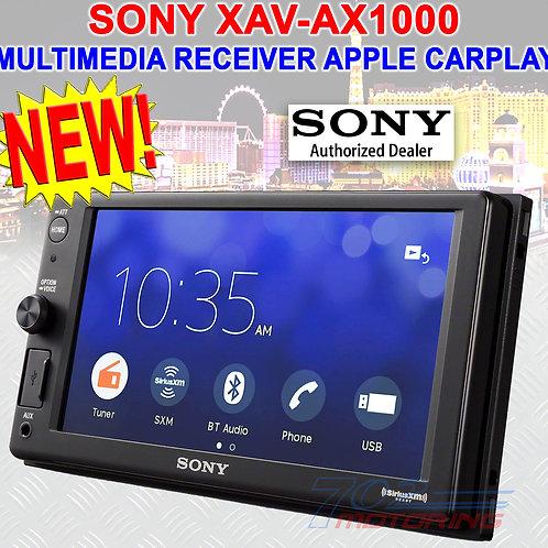 SONY XAV-AX1000 MULTIMEDIA PLAYER RADIO BLUETOOTH USB APPLE CARPLAY 55 W X4 MAX