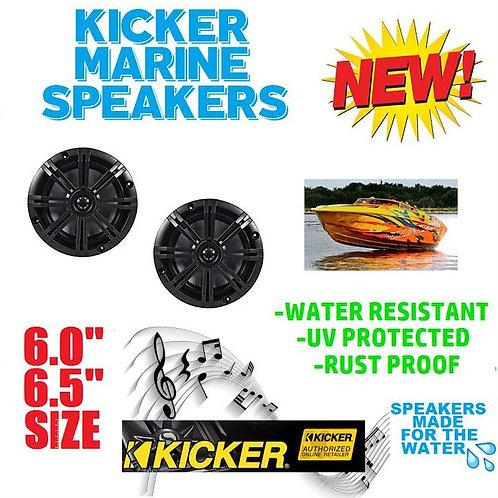 KICKER 41KM604B KM6204B 11KM6204B BKM60 BKM604B MARINE & BOAT SPEAKERS 6.5 INCH
