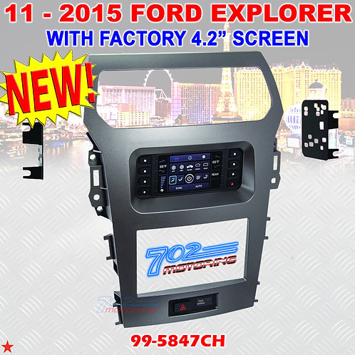 METRA 99-5847CH FORD EXPLORER 2011-15 DOUBLE DIN CAR RADIO DASH KIT WITH A/C NEW