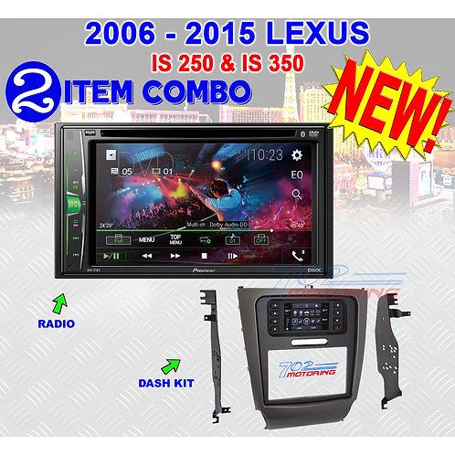 """06-15 """"IS"""" SERIES LEXUS - AVH-211EX + METRA 99-8163"""
