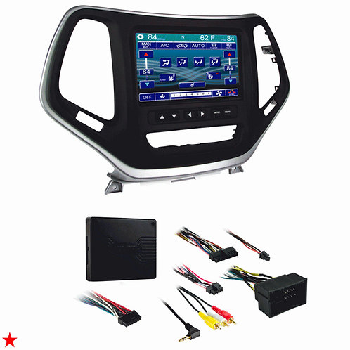 2014 - UP JEEP CHEROKEE METRA 99-6526S DOUBLE DIN RADIO STEREO 2-DIN INSTALL KIT