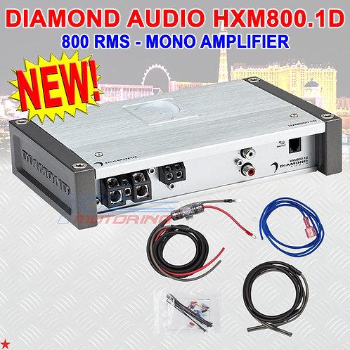 DIAMOND AUDIO® HXM800.1D MOTORSPORT-SERIES 800 RMS MONOBLOCK CLASS-D AMPLIFIER
