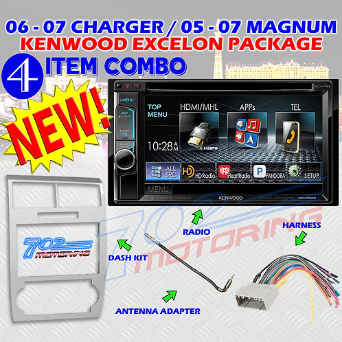 05-07 DODGE MAGNUM / CHARGER DDX5902 + 99-6519S + HARNESS + ANTENNA ADAPTER