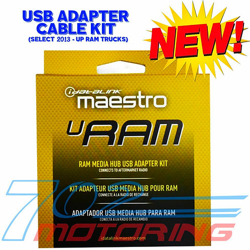 NEW iDATALINK MAESTRO ACC-USB-RAM USB PORT CABLE / SELECT 2013-UP RAM TRUCKS