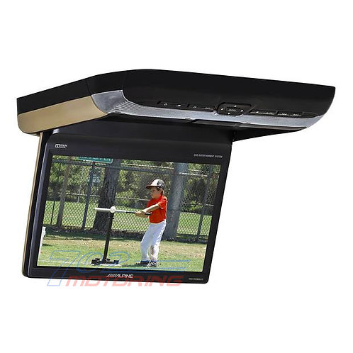 """ALPINE PKG-RSE3DVD 10.2"""" OVERHEAD VIDEO MONITOR WITH BUILT-IN DVD PLAYER"""