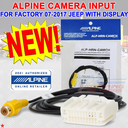 ALPINE ALP-HRN-CAMCH CAMERA INPUT FOR FACTORY 2007-2017 JEEP RADIO WITH DISPLAY