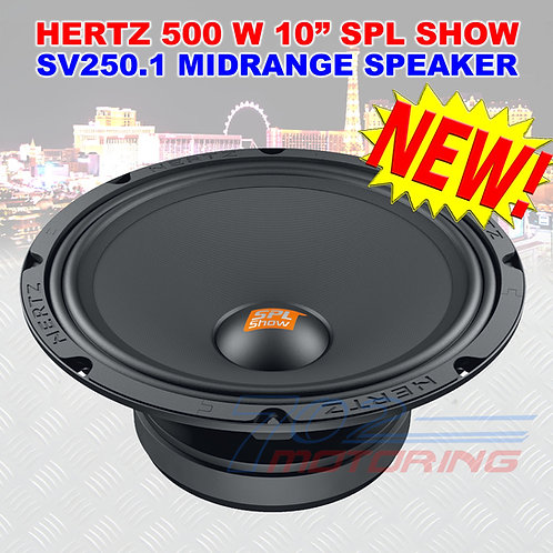 "(1) NEW HERTZ SPL SHOW SV250.1 10"" 250W RMS / 500W MAX MIDRANGE SPEAKER 10in NEW"