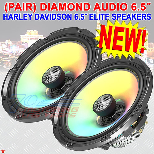 "DIAMOND AUDIO HXM65F4 SPEAKERS FOR HARLEY-DAVIDSON 2-WAY 6.5"" FLUSH MOUNT 4Ω NEW"