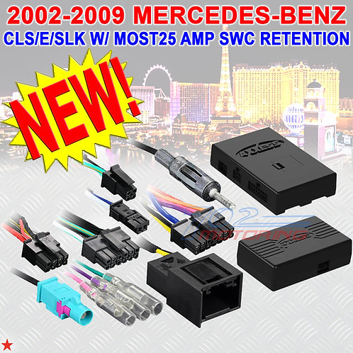 AXDIS-MB132 MERCEDES-BENZ CLS/E/SLK WITH MOST25 AMP SWC RETENTION 2003-2008 NEW!