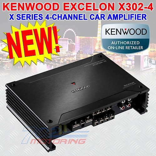 KENWOOD EXCELON X302-4 CLASS-D 4-CHANNEL CAR AMPLIFIER 50W RMS x 4 at 4 ohms NEW