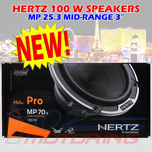"HERTZ MP 70.3 MILLE PRO 3"" CAR AUDIO 100W COMPONENT MIDRANGE 4 OHM SPEAKERS"