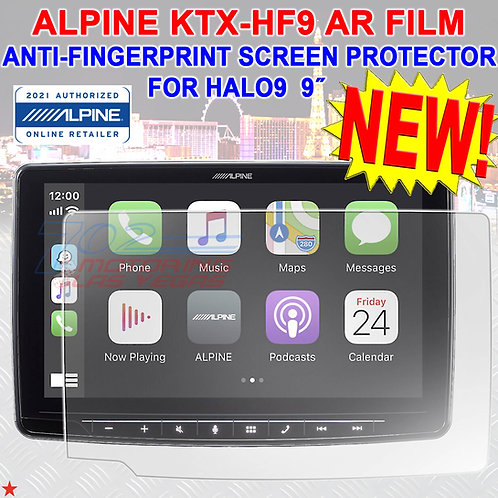 ALPINE KTX-HF9 ANTI-REFLECTOR SCREEN PROTECTOR FOR ALPINE HALO9 TOUCHSCREEN NEW!