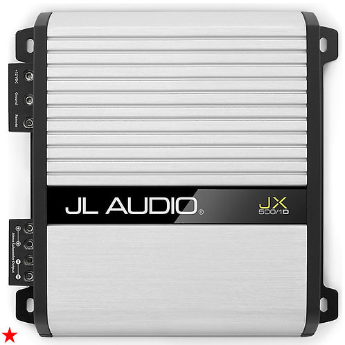 JL AUDIO JX500/1D MONOBLOCK SUBWOOFER AMPLIFIER 500 WATTS RMS X 1 AT 2 OHMS NEW