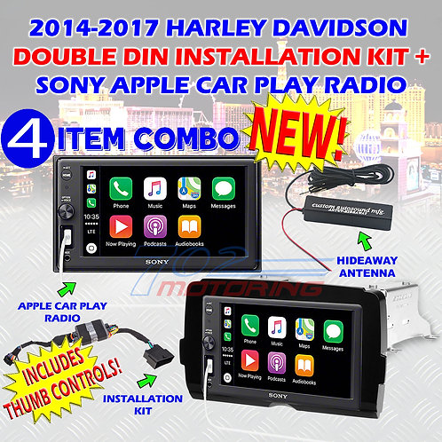 2014 - 2020 HARLEY DAVIDSON SONY DDIN MULTIMEDIA RADIO KIT CARPLAY + SATELLITE
