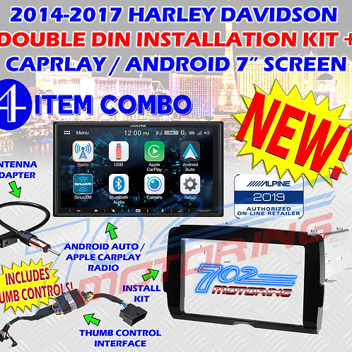 2014 - 2020 HARLEY DAVIDSON CAR PLAY TOUCH SCREEN RADIO KIT ALPINE iLX-W650 NEW!