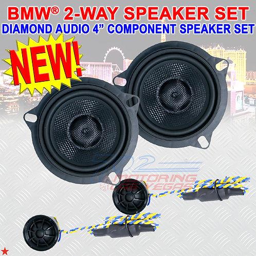 "DIAMOND AUDIO VSP4BMW BMW® SPECIFIC 2-WAY 4"" COMPONENT SPEAKER SET 1"" TWEETERS"