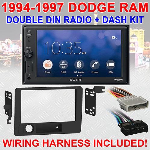 1994-1997 DODGE RAM BLUETOOTH USB SD AUX CAR RADIO STEREO PACKAGE XAV-V10BT NEW