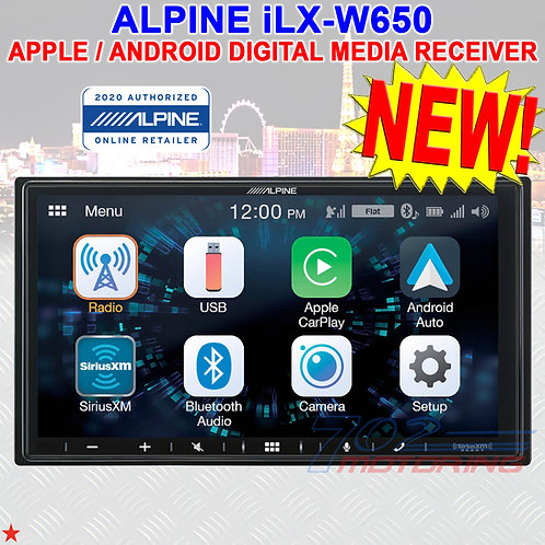 "ALPINE iLX-W650 7"" DOUBLE DIN DIGITAL MEDIA RECEIVER APPLE CARPLAY ANDROID AUTO"