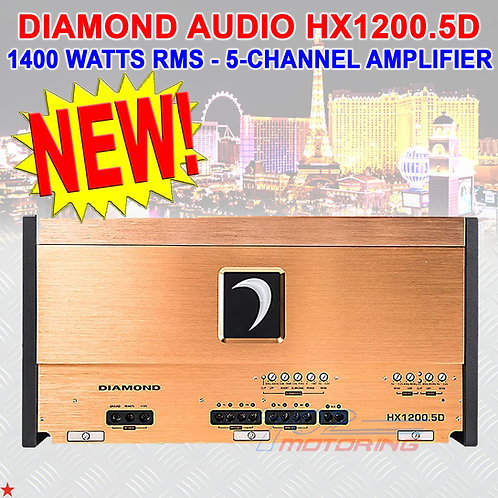 DIAMOND AUDIO® HX1200.5D HEX-SERIES 1400 W RMS 5-CHANNEL CLASS-D AMPLIFIER AMP