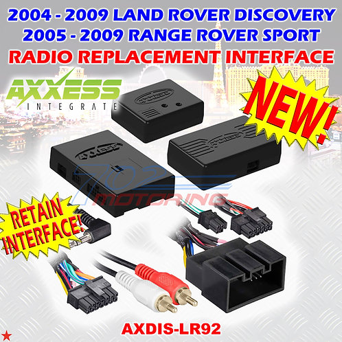 04 - 09 LAND ROVER DISCOVERY / RANGE ROVER SPORT W/ MOST25 AMP, SWC RETENTION