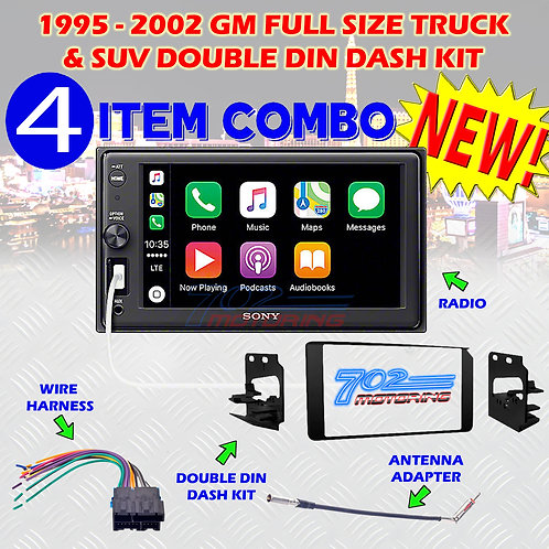 1995-2002 GM FULL SIZE TRUCK & SUV DOUBLE DIN CAR STEREO INSTALLATION DASH KIT S
