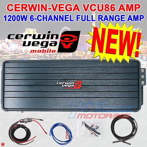 CERWIN-VEGA VCU86 1200W 6-CH CLASS D CAR MOTORCYCLE AMPLIFIER + WIRING POWER KIT
