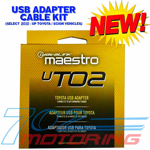 iDATALINK MAESTRO ACC-USB-T02 UT02 CONNECTS FACTORY USB TO AFTERMARKET RADIO