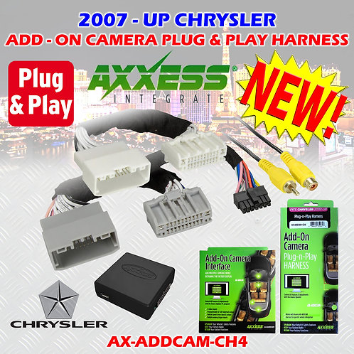 AXXESS AX-ADDCAM-CH4 ADD-ON CAMERA PLUG-N-PLAY HARNESS 2010 UP SELECT CHRYSLER