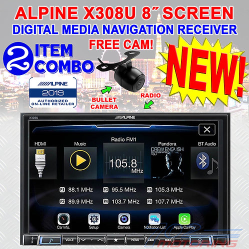 "ALPINE X308U 8"" TOUCHSCREEN DIGITAL MEDIA RECEIVER APPLE CARPLAY ANDROID AUTO"
