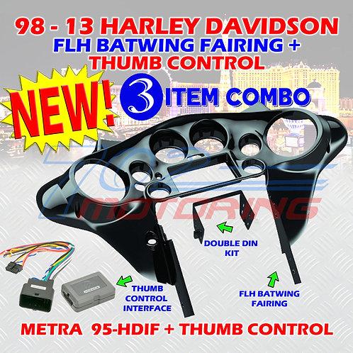 METRA 95-HDIF 98-13 HARLEY DAVIDSON FLH BATWING FAIRING DOUBLE DIN INSTALLATION