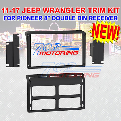 "DASH KIT FOR PIONEER 8"" DIGITAL MULTIMEDIA RECEIVER IN A JEEP WRANGLER 2011 - 17"