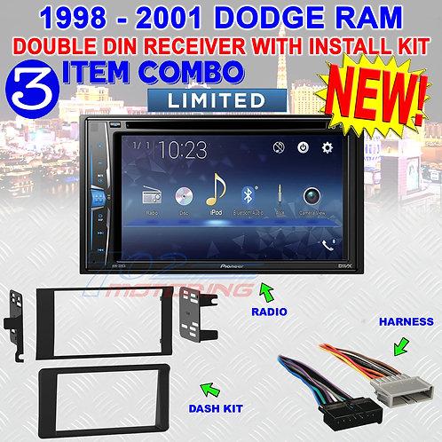 98 99 00 01 DODGE RAM DVD/CD TOUCHSCREEN BLUETOOTH USB CAR RADIO STEREO SYSTEM