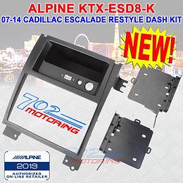 "ALPINE KTX-ESD8-K RESTYLE DASH KIT FOR 8"" ALPINE DDIN IN 07-14 CADILLAC ESCALADE"