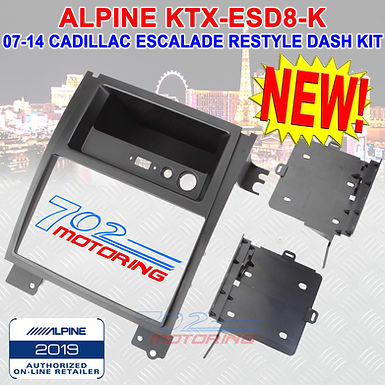 "ALPINE KTX-ESD8-K RESTYLE DASH KIT FOR 8"" ALPINE DDIN IN 07-14 CADILLAC ESCALADE"
