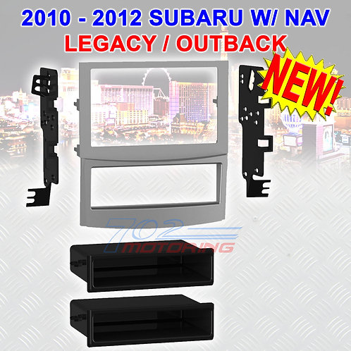 2010 - 12 SUBARU LEGACY / OUTBACK WITH NAVIGATION INSTALLATION KIT 99-8910S NEW