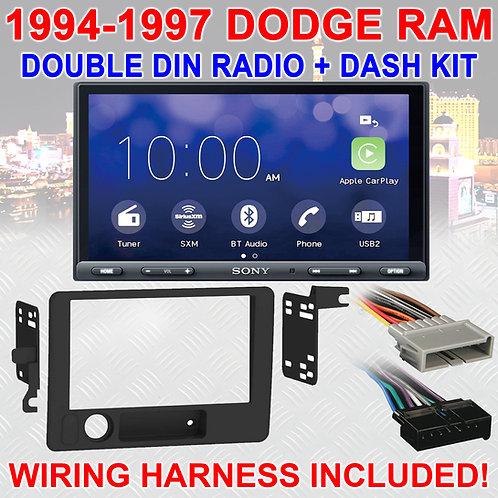 1994-1997 DODGE RAM BLUETOOTH USB SD AUX CAR RADIO STEREO PACKAGE XAV-AX5000 NEW